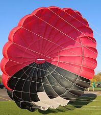 Pioneer 26ft steerable vintage round reserve skydiving parachute canopy