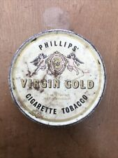 More details for vintage rare - phillips' virgin gold (cigarette tobacco) tin - c1940's ??