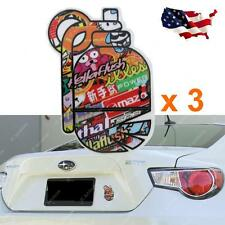 3x JDM Graffiti Style Hand Grenade Bomb Vinyl Decals Stickers for car SUV Truck