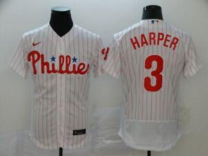 Men's Philadelphia Phillies Bryce Harper White Home Player Jersey – Flex Base