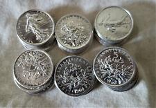 FRANCE LOT 31 pièce monnaie 5 francs semeuse 1960 à 1964 argent silver