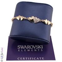 Bracciale donna oro Swarovski Elements originale G4Love cristalli cuori donna