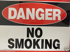 "Danger No Smoking Large Warning Safety Signage Lot Of 2 Sign 10"" X 14"""