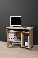Schreibtisch Bürotisch PC Tisch Computertisch Gummi Laufrollen Sonoma Eiche