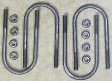 """4 of Trailer axle u-bolts 3"""" i.d x 1/2"""" with nuts"""