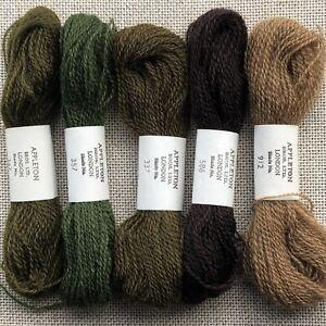 Appletons London Crewel embroidery wool - 5 skeins - Made in England 100% wool