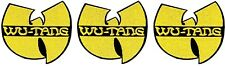 "Wu-Tang Clan Yellow ""W"" Logo [Lot of 3] Patch Emblem Symbol Badge Rap Hip-Hop"