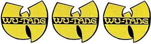 "Wu-Tang Clan Yellow ""W"" Logo [Lot of 3] Patch Emblem Symbol Badge Rap Hip-Hop"