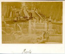 France, le château de Marly, vue sur les cascades  vintage albumen print, Ti