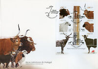 Portugal 2018 FDC Portuguese Breeds Cows Sheep 6v M/S Cover Farm Animals Stamps