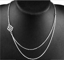 Kette Halskette Silber Ethno Statement Dame Style Blogger Statement doppel