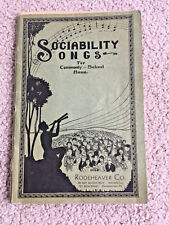 1928 Rodeheaver Sociability Songs Music Book Folk school church Songs Christmas