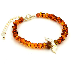 Natural Baltic  Amber Bracelet  Fashionable Modern Jewelry