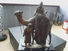 """Cold painted bronze Arab Rug Dealers on Camel, cigarette lighter, 7 1/2"""" by 5"""""""