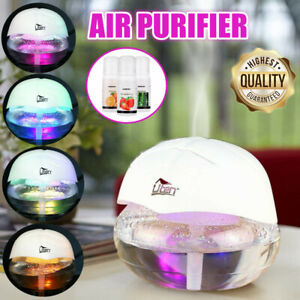 Globe Air Revitaliser Purifier Freshener Ioniser 7 Colour Changing LED Light UK