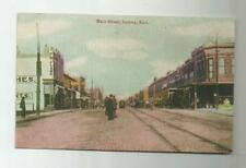 1910 GALENA KS KANSAS MAIN STREET POSTCARD STREET CAR PEOPLE