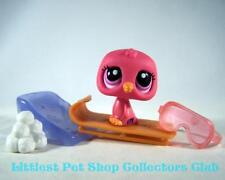 Littlest Pet Shop SUPER RARE Pink Red PENGUIN #1430 FREE ACCESSORIES! BRAND NEW!