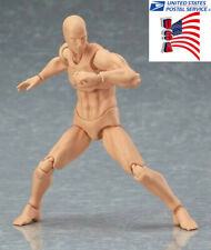 USA 6inch Figma Male Action Figure Body Model Toy Youth Version 2.0 Man Doll