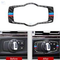 For BMW 3 Series E90 E92 Carbon Fiber M Sport Headlight Switch Frame Cover Trim