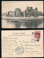 ISLE of MAN 1906 PPC PEEL SQUARED CIRCLE POSTMARK to GERMANY 1d FRANKING