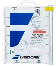 2 Pack Babolat Pro Team Tacky Thin Overgrips Grip X 12 White
