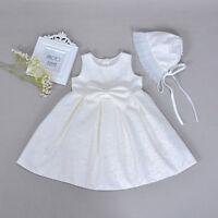 0-18m newborn toddler baby girl wedding party christening baptism gown dress Set