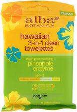 Hawaiian Skin Care Pineapple Enzyme Towelettes, Alba Botanica, 10 piece