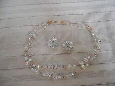 Vintage Vendome 2 strand aurora borealis necklace signed