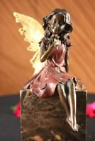 Butterfly Angel Nymph Fairy Fantasy Art Deco Elegant Bronze Marble Statue GIFT