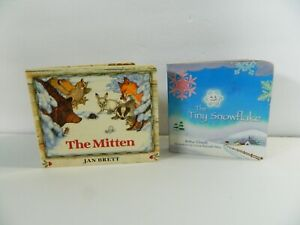 Childrens Board Books Lot 2 Tiny Snowflake The Mitten Toddler Books Winter