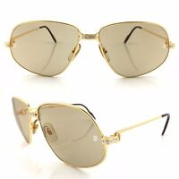 OCCHIALI CARTIER PANTHERE T8200038 18KT GOLD PLATED VINTAGE SUNGLASSES NOS 80'S