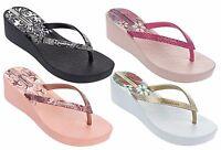 IPANEMA DECO scarpe infradito donna sandali alti zeppa ciabatte zoccoli mare