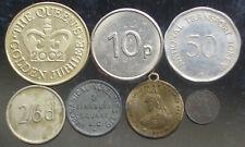 7 different British tokens
