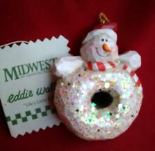 Eddie Walker Santa Snowman Iced Donut Ornament Midwest of Cannon Falls 41593 New