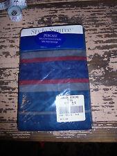 NIP Damask Stripe Teal King Pillowcase percale cotton blend bedding set chic