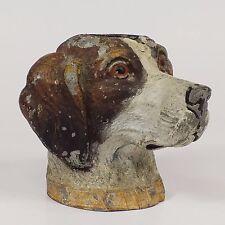 """Cast Metal Hunting Dog Figural Pen Wipe Original Paint Gstzl Geschütz 2.5"""""""