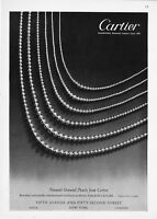 1949 Cartier Natural Oriental Matched Pearl Necklaces photo vintage print ad