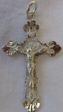 "Egyptian Sterling Silver Cross Coptic Pendant 2.1"" #C7"