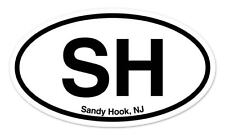 "SH Sandy Hook New Jersey Oval car window bumper sticker decal 5"" x 3"""
