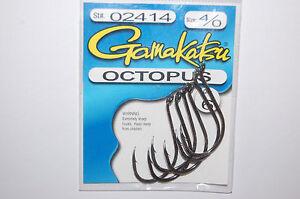 gamakatsu octopus hook size 4/0  6 per pack # 02414  hooks nickel silver black