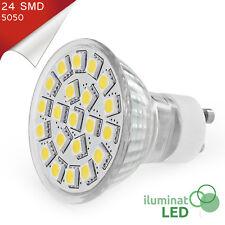 Bombilla LED GU10 24 SMD 5050 Blanco Puro 220V - Únicamente 5W.