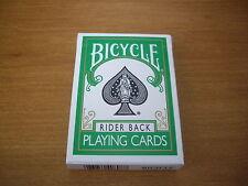 Carte da gioco BICYCLE GREEN RIDER BACK, poker size