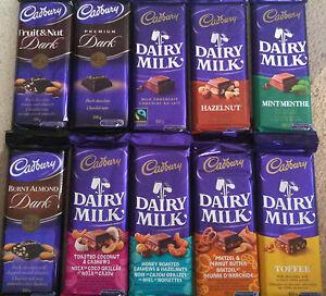 CADBURY DAIRY MILK KING SIZE CANADIAN CHOCOLATE BARS MANY FLAVOURS