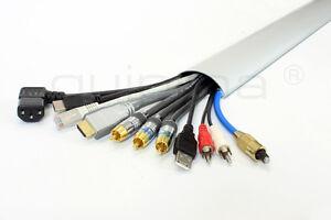 Aluminium Kabelkanal, quipma 299, weiß, 100cm lang, 6cm breit, Kabelabdeckung