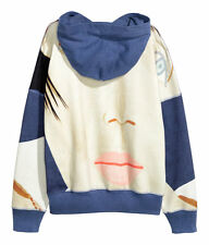 ALEX KATZ x H&M 'Kym' 2011 Women's Printed Hooded Sweatshirt Hoodie Sz 8 **NWT**