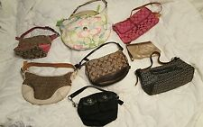 Lot of 8 authentic Coach Bags Handbags 1 med others small