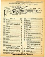 1960 Print Ad of Remington .22 Model 572 Rifle Parts List cutaway view