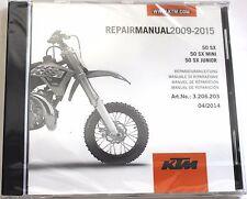 NEW KTM OEM REPAIR MANUAL DISK CD 2009-2015 50 SX, SX MINI, SX JUNIOR 3206203