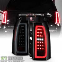 Black Smoke 2015-2018 Chevy Suburban Tahoe Full LED Tube Tail Lights Brake Lamps