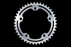 Vintage Stronglight-compatible 5-bolt 42T 122BCD alloy chainring, 4oz